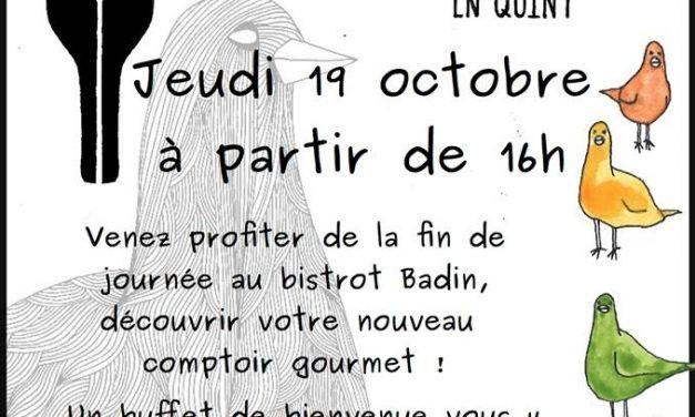 Ouverture du Bistrot Badin (en Quint) à St Julien !