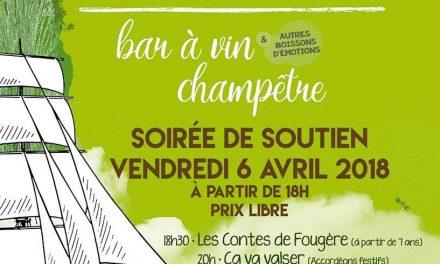 Cap Sur L'Évidence ! Bar à Vin Champêtre, une soirée de soutien le 06.04.18