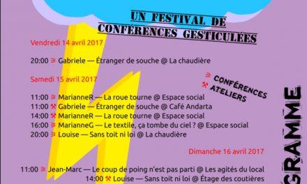 De L'Orage Dans L'Ère, un festival de conférences gesticulées