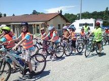 La Traversée de la Drôme en Vélo avec la classe de Cm1/Cm2 de Menglon