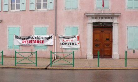 Manifestation pour le maintien de l'hopital