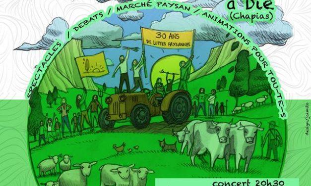 Fête de la confédération paysanne à Chapias