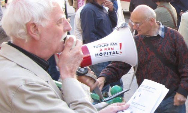 Jean-Pierre Rambaud du «Collectif de défense de L'hôpital de Die»