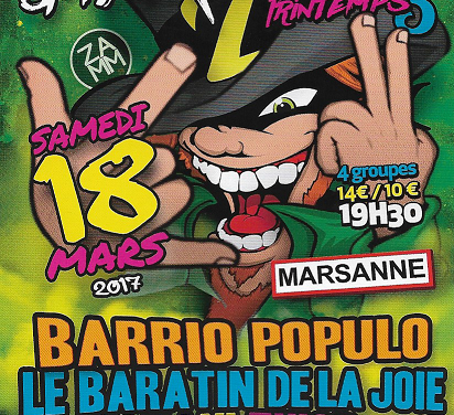 Marsanne, 18 mars 2017 : Ze St Patrick's Night Of The Printemps 5