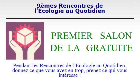 «Le Salon de la gratuité» pendant les 9èmes rencontres de l'écologie au quotidien