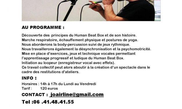 Stage de Human BeatBox avec Jungle Baboo