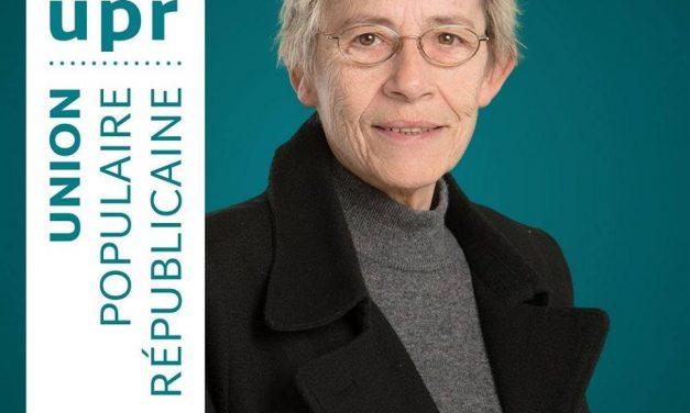 Brigitte Rousselet, candidate UPR aux élections législatives