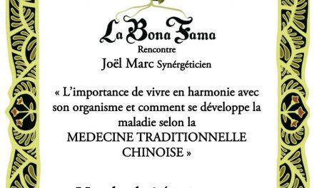 Conférence de la Bona Fama avec Joël Marc, synergéticien