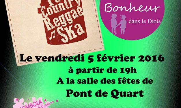 Concert au profit de l'association «Que Du Bonheur Dans Le Diois»