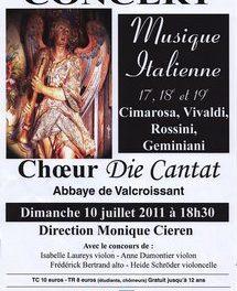 Le choeur Die Cantat en concert à Valcroissant le 10 juillet
