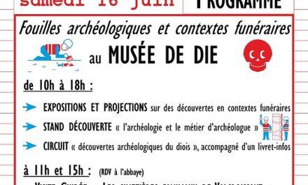 Journées Nationales de l'Archéologie au Musée de Die et du Diois
