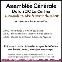 25 ème Assemblée Générale de la Carline !