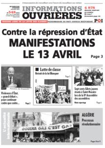 Tribune Libre # 28 Assemblée et Comité, résistance et reconquête !