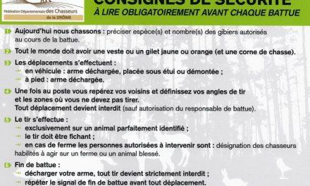Fédération des Chasseurs de la Drôme : Tout sur la Sécurité