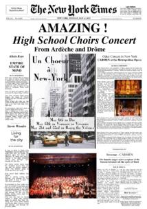 La chorale du Collège du Diois en représentation !
