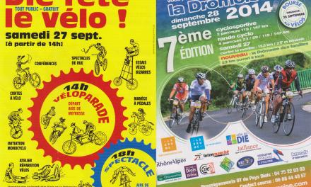 27_28 septembre 2014 : Die Fête Le Vélo & La Drômoise