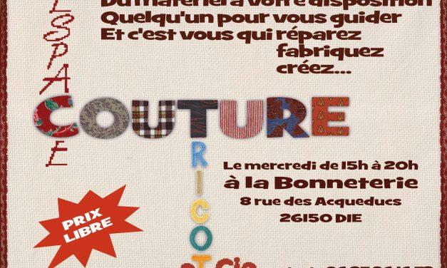 Le mercredi, c'est «Espace Couture Tricot et Cie»