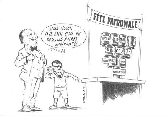 Occupation du Pole Emploi de Crest contre l'agrément Unedic du 22 Mars 2014