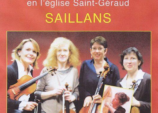 Le quatuor Puccini à Saillans