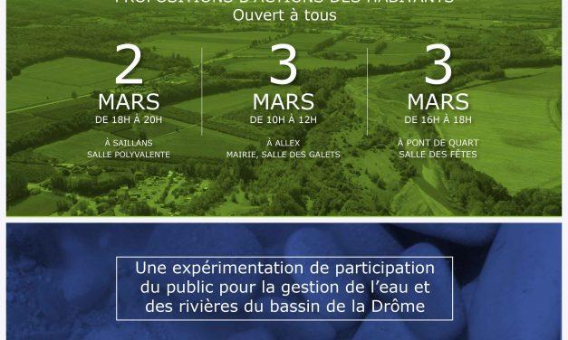 Projet SPARE sollicite vos propositions pour la rivière Drôme