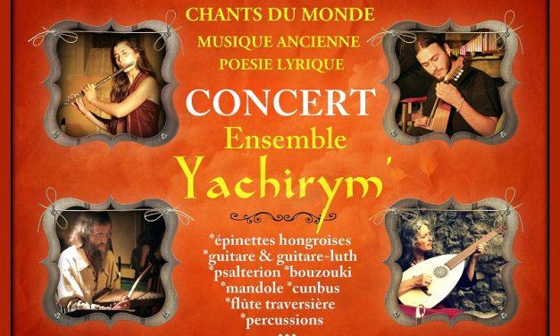 Yachirym' en concert maintenant et toute l'année !!