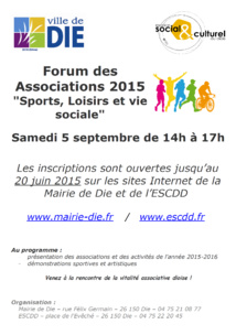 Forum des associations 2015 à Die (3)