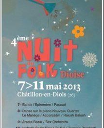 4 ème Nuit du Folk Dioise à Chatillon-en-Diois