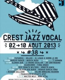 Crest Jazz Vocal #38 : du 2 au 10 aout 2013