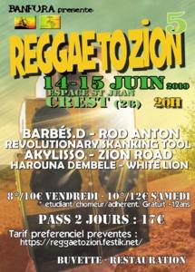 Reggae to Zion, 5ème édition
