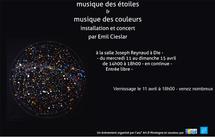 Emile Cieslar «Musique des étoiles – des couleurs» : installation et concert