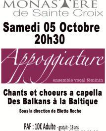 Appoggiature, en concert le 5 octobre