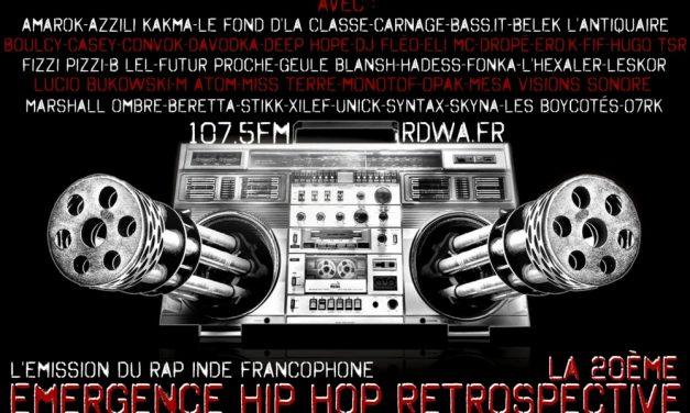 Emergence hip hop Retrospective La20ème