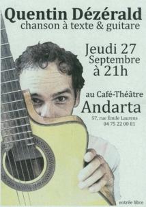 Quentin Dézérald, chanteur… À découvrir !