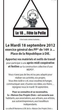 La Maison Des Projet Du Diois  : «LE 18… FÊTE LA PELLE !»