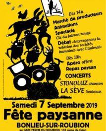 Fête Paysanne à Bonlieu-sur-Roubion, 7 septembre
