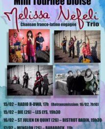 Mélissa Nefeli Trio en tournée dioise ce week-end