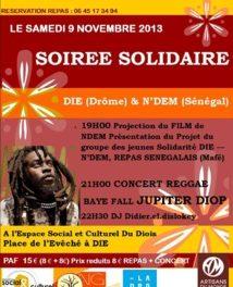 Projet de Solidarité DIE / N'DEM et concert le 9 novembre !