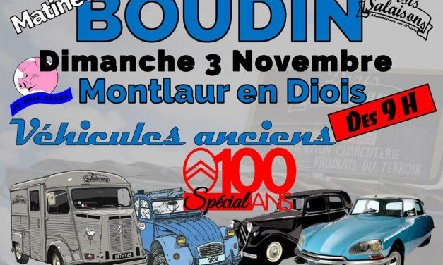 Le boudin et automobiles anciennes en fête à Montlaur-en-Diois