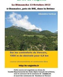 Le KV de l'Aiglette : première édition du kilometre Vertical dans le Diois