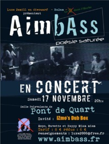 «Aimbass», poésie saturée en concert le 17.11.2012