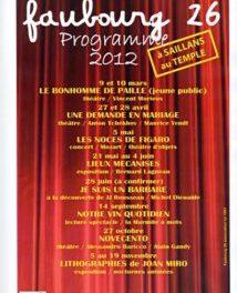Maurice Yendt et Faubourg 26 présente le Théâtre du Temple à Saillans