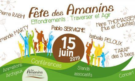 Fête des Amanins : 15 juin 2019