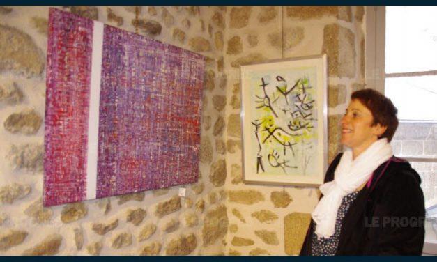 René Michaux_Pierre Rouchouze : Exposition de Peintres du Diois