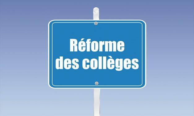 Réunion Publique : Réforme des collèges