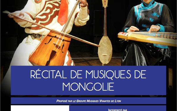 Récital de Musiques Mongoles à Valcroissant