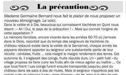 Souvenirs du Diois de Germaine Bernard