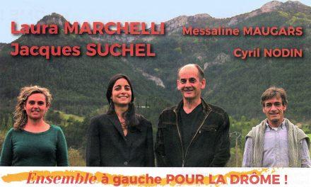 Élections départementales 2021 : Ensemble à gauche pour la Drôme