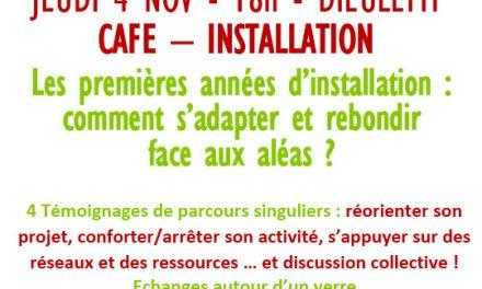 Café-installation par Solidarité paysans