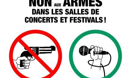 Non aux armes en salles de spectacles