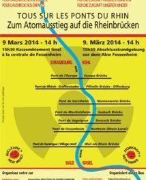 Réaction en chaîne contre le nucléaire le 9 mars